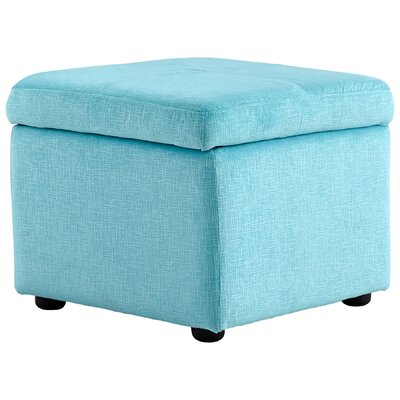Huffington Ottoman Upholstery: Blue