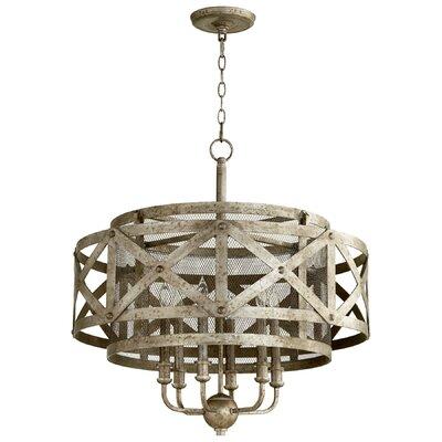 Byzantine 6-Light Drum Pendant