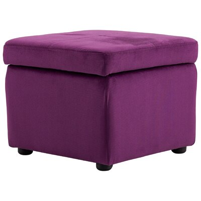 Huffington Storage Ottoman Upholstery: Purple