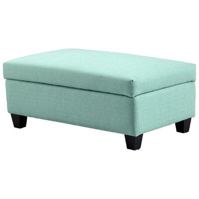 Aldous Storage Ottoman Upholstery: Green