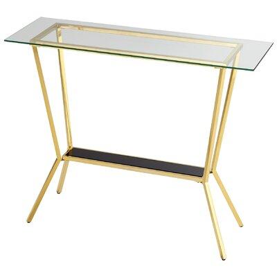 Arabella Console Table Finish: Brass