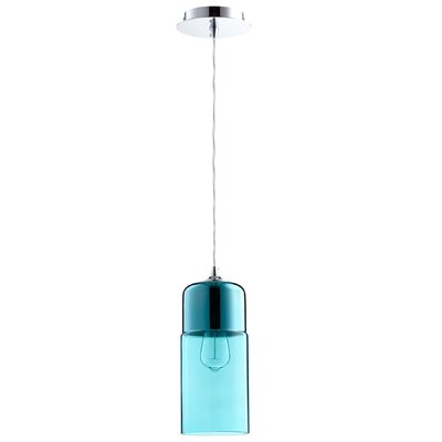 1-Light Mini Pendant Shade Color: Blue