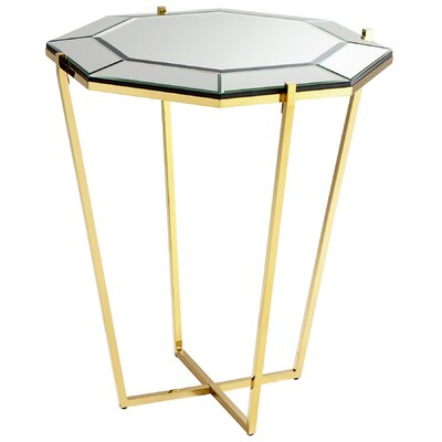 Elara Foyer End Table Color: Brass
