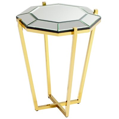 Elara Side End Table Finish: Brass