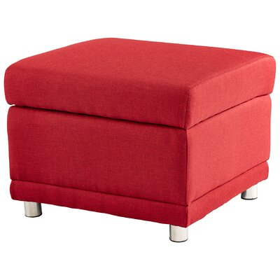 Maro Ottoman Upholstery Color: Red