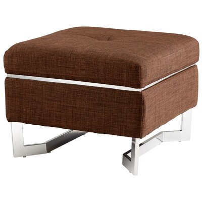 Ottoman Upholstery Color: Brown