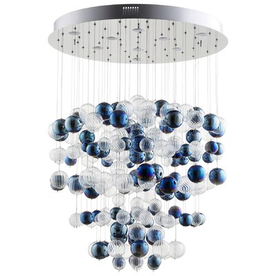 Champagne Circus 5-Light Waterfall Chandelier