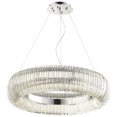 Beaming Around 8-Light Drum Chandelier