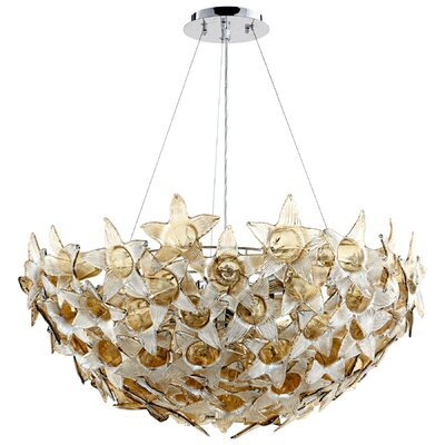 Moon Lillie 10-Light Inverted Pendant
