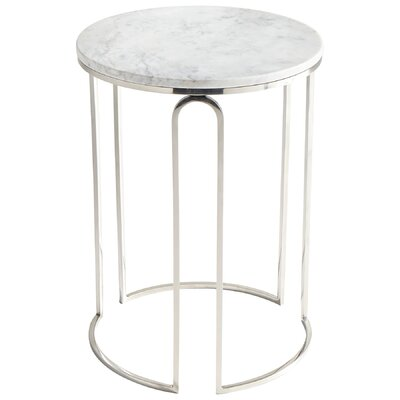 End Table Color: Polished Nickel