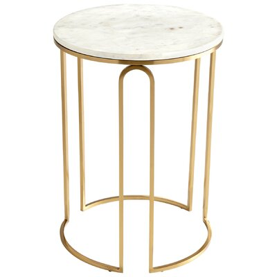 Metallic Tower End Table Finish: Antique Brass