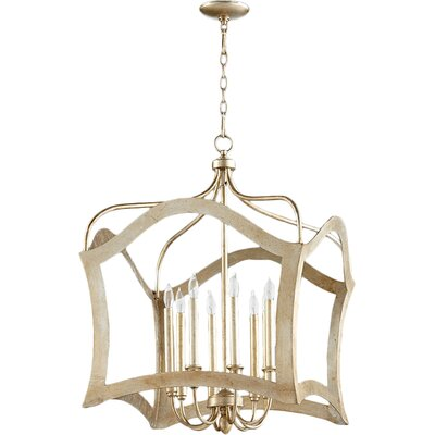 Milan 8-Light Foyer Pendant Finish: Aged Silver Leaf