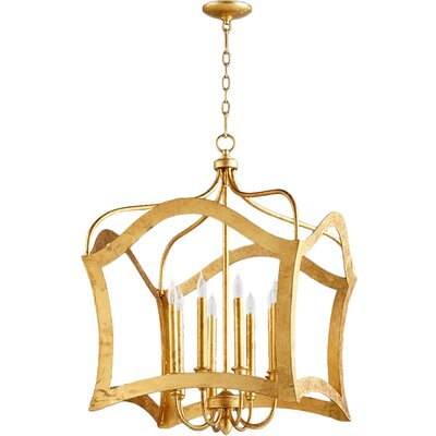 Milan 8-Light Foyer Pendant Finish: Gold Leaf