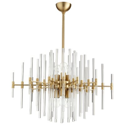 Quebec 6-Light Sputnik Chandelier Finish: Aged Brass