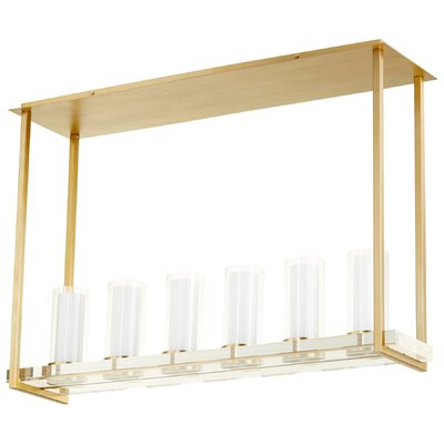 Orion 6-Light Kitchen Island Pendant Finish: Aged Brass