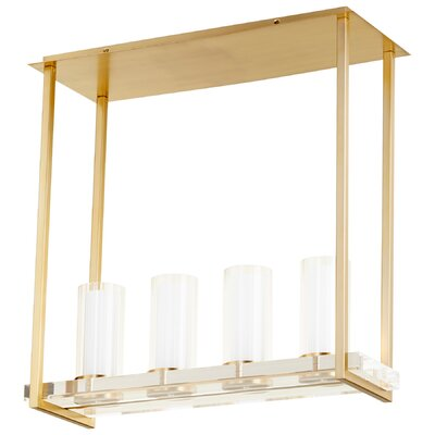 Orion 4-Light Kitchen Island Pendant Finish: Aged Brass