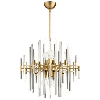 Quebec 6-Light Sputnik Chandelier Size: 24.75 H x 22.75 W x 22.75 D