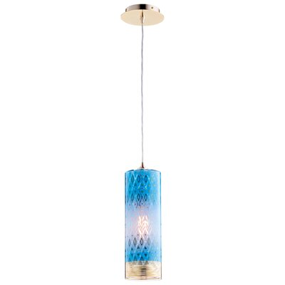 Kaska 1-Light Mini Pendant Shade Color: Blue, Size: 17 H x 4.75 W x 4.75 D