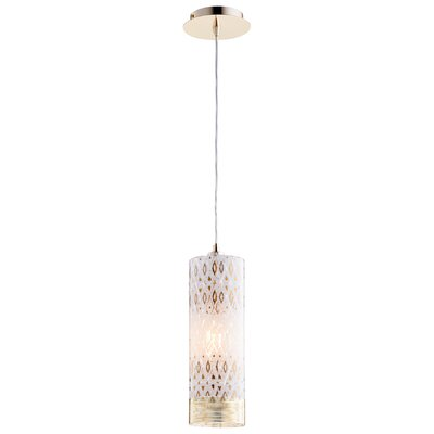 Kaska Mini Pendant Size: 17 H x 4.75 W x 4.75 D, Shade Color: White