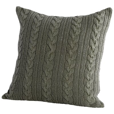 Crochet Decorative Cotton Throw Pillow Color: Green