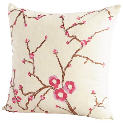 Dutch Blossom Decorative Cotton Throw Pillow Color: Pink/White