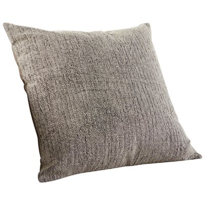 Simply Rain Decorative Cotton Throw Pillow Color: Gray