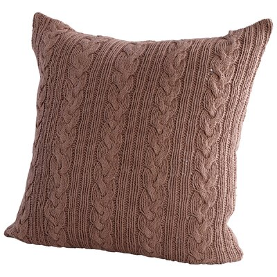 Crochet Decorative Cotton Throw Pillow Color: Blue