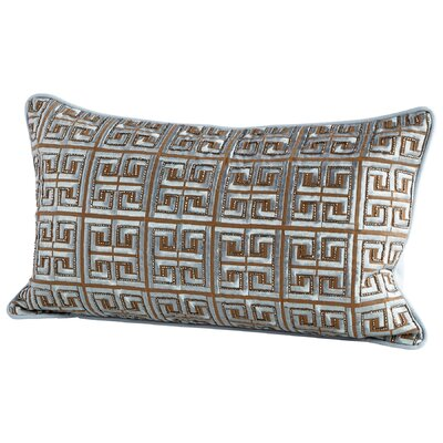 Greek-Key Decorative Cotton Lumbar Pillow