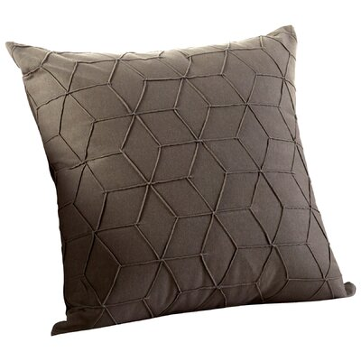 Zeta Decorative Cotton Throw Pillow Color: Black