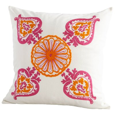 Charlotte Floral Decorative Cotton Throw Pillow