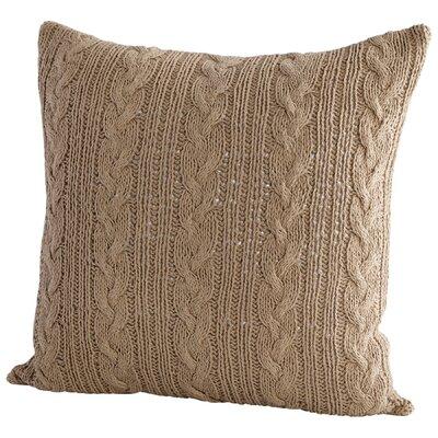 Crochet Decorative Cotton Throw Pillow Color: Beige