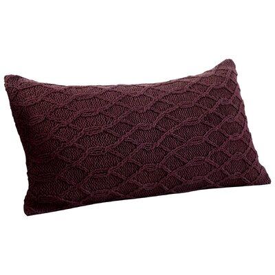 Cable Stone Decorative Cotton Lumbar Pillow Color: Purple