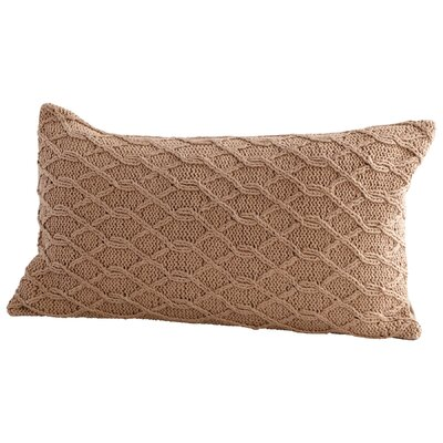 Cable Stone Decorative Cotton Lumbar Pillow Color: Tan
