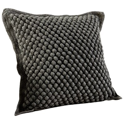 Bubble Knit Decorative Cotton Throw Pillow Color: Blue