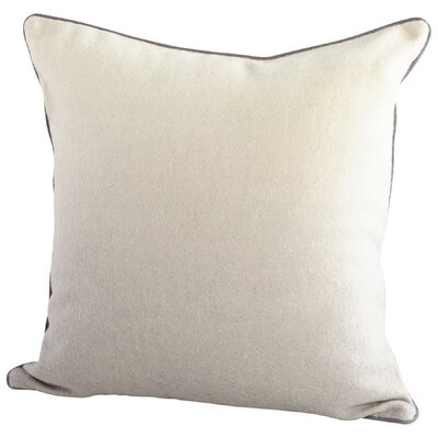 Gradient Decorative Cotton Throw Pillow Color: Gray/White