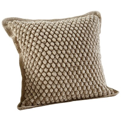 Bubble Knit Decorative Cotton Throw Pillow Color: Tan