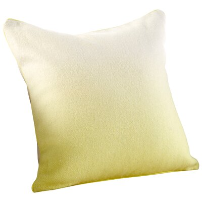 Gradient Decorative Cotton Throw Pillow Color: Yellow