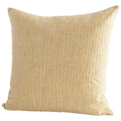 Simply Rain Decorative Cotton Throw Pillow Color: Beige