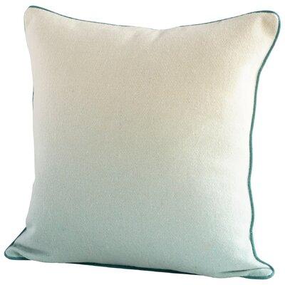 Gradient Decorative Cotton Throw Pillow Color: Blue/White