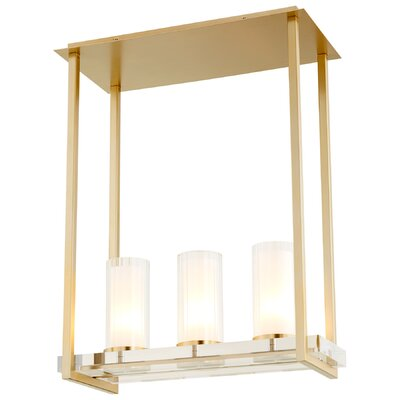 Orion 3-Light Kitchen Island Pendant Finish: Aged Brass