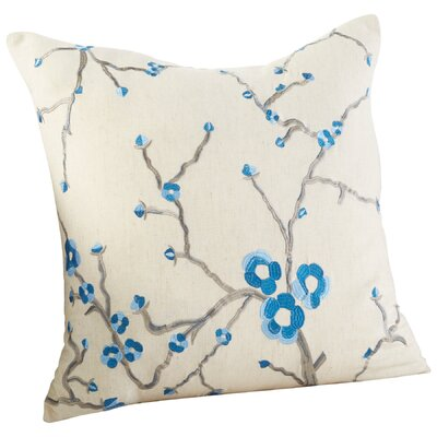 Dutch Blossom Decorative Cotton Throw Pillow Color: Blue/White