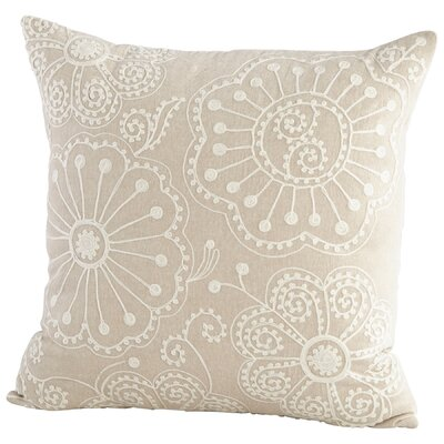 Peony Decorative Cotton Throw Pillow
