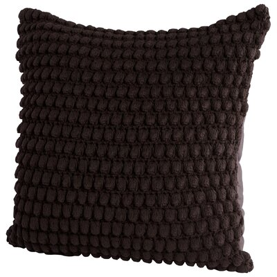 Bulle Knit Decorative Cotton Throw Pillow Color: Black
