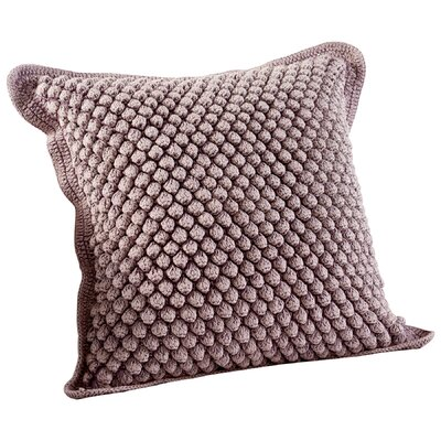 Bubble Knit Decorative Cotton Throw Pillow Color: Purple