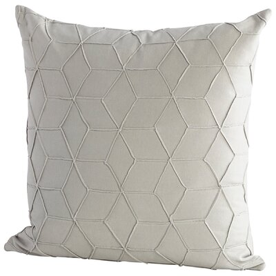 Zeta Decorative Cotton Throw Pillow Color: Gray