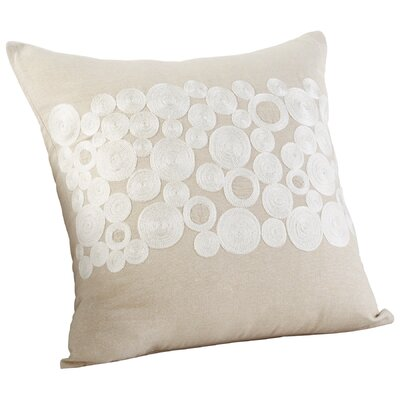 Kissy Circles Decorative Cotton Throw Pillow