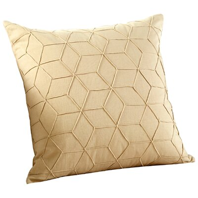 Zeta Decorative Cotton Throw Pillow Color: Tan