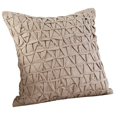 Grand IIusion Decorative Cotton Throw Pillow Color: Beige