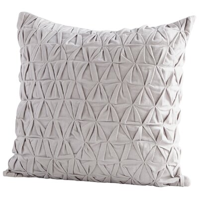 Grand IIusion Decorative Cotton Throw Pillow Color: Gray