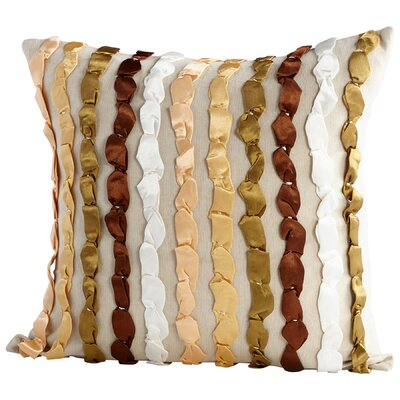 Butterscotch Decorative Cotton Throw Pillow